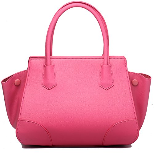 Women Faux Leather Handbags Fashion Designer Tote Handbag Large Top Handle Satchel Handbag - Pink