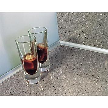 Wandanschlussprofil küche  Wandabschlussprofil System Piccolo Edelstahl Optik aus ...