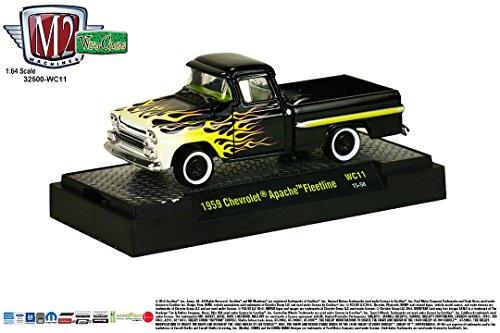(1959 CHEVROLET APACHE FLEETLINE * Wild Cards Series Release 11 * M2 Machines 2015 Castline Premium Edition 1:64 Scale Die-Cast Vehicle ( WC11 15-58 ))