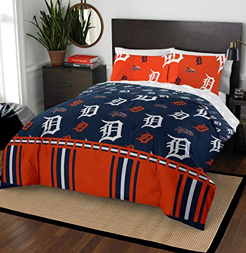 - The Northwest Company MLB Detroit Tigers Queen Bed in a Bag Complete Bedding Set #377345285