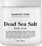 Dead Sea Salt Body Scrub by Majestic Pure - Infused with Aromatic Oils Exfoliates and Helps Conceal Stretch MAJESTIC PURE Dead Sea Salt Body Scrub - Infused with Aromatic Oils Exfoliates and Helps Con