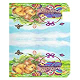Wamika Happy Easter Day Bunny Eggs Basket Lilies