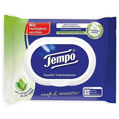 Amazon Com Tempo Wet Tissues Wipes Pack Of 42 Tissues Natural With Chamomile Health Amp Personal Care