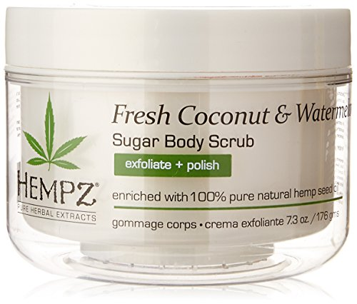 - Hempz Herbal Sugar Body Scrub, Pearl White, Fresh Coconut/Watermelon, 7.3 Fluid Ounce