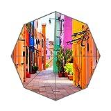 Beautiful Italy Streets Art Custom Unique Durable Custom Foldable Umbrella
