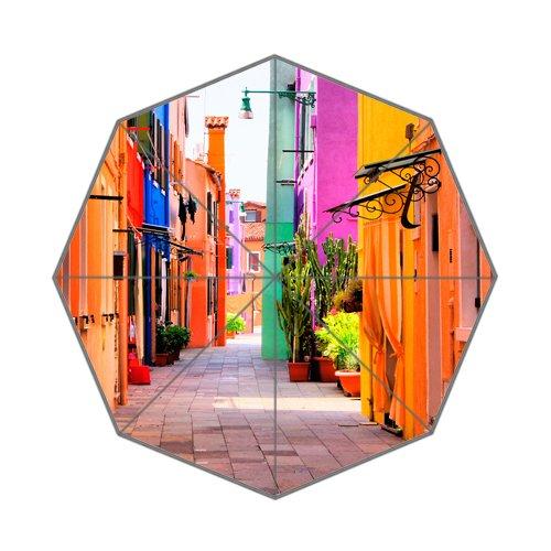 Beautiful Italy Streets Art Custom Unique Durable Custom Foldable Umbrella by CustomLittleHome