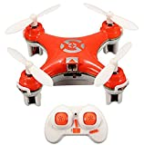 oneCase Cheerson CX-10 29mm 4 Channel 2.4GHz Radio Control RC Mini Quadcopter Helicopter Drone 6-Axis Gyro UFO with LED Flash Light – Orange