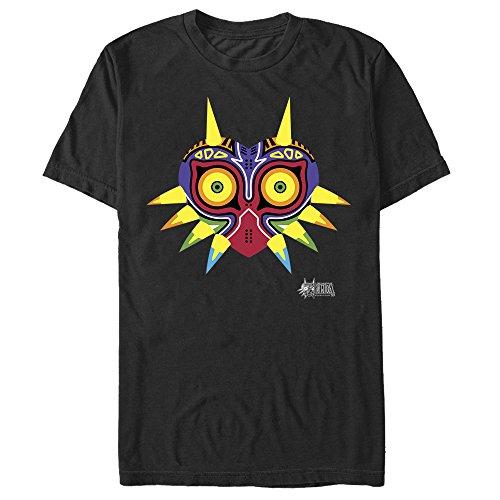 Nintendo Men's Legend of Zelda Majora's Mask Design Black T-Shirt