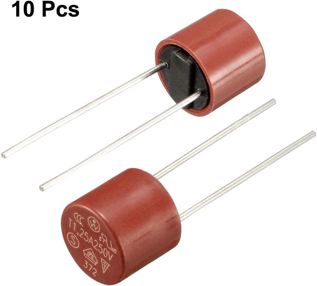DIP r Miniaturzylinder Slow Blow Mikro Sperrt t0,2A 0,2A 250V rot de sourcing map 10 Stk