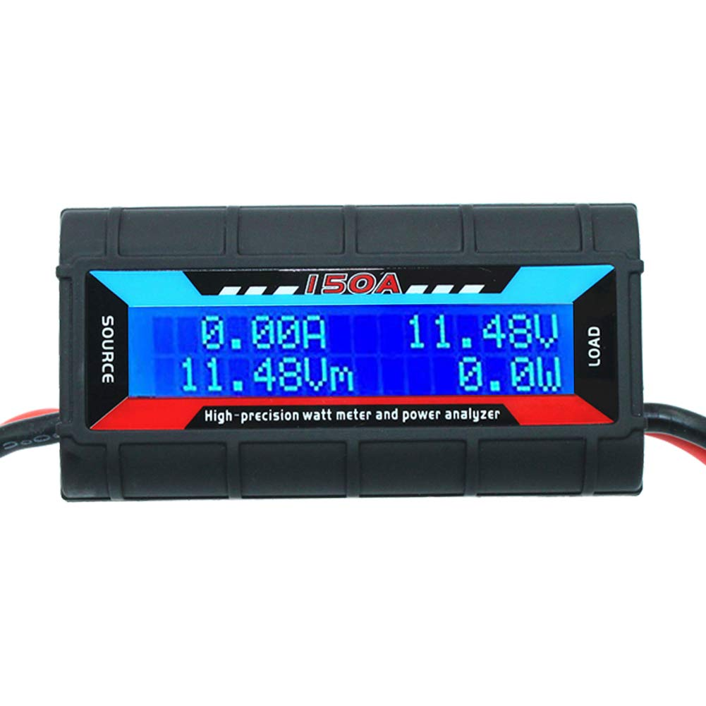 150A Watt Meter Power Analyzer High Precision RC with Digital LCD Screen for voltage (V) current (A) Power (W) Charge(Ah) and Energy (Wh) Measurement