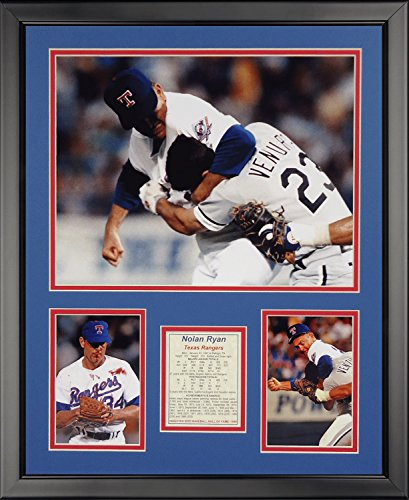 Legends Never Die Nolan Ryan Fight Framed Photo Collage, 16