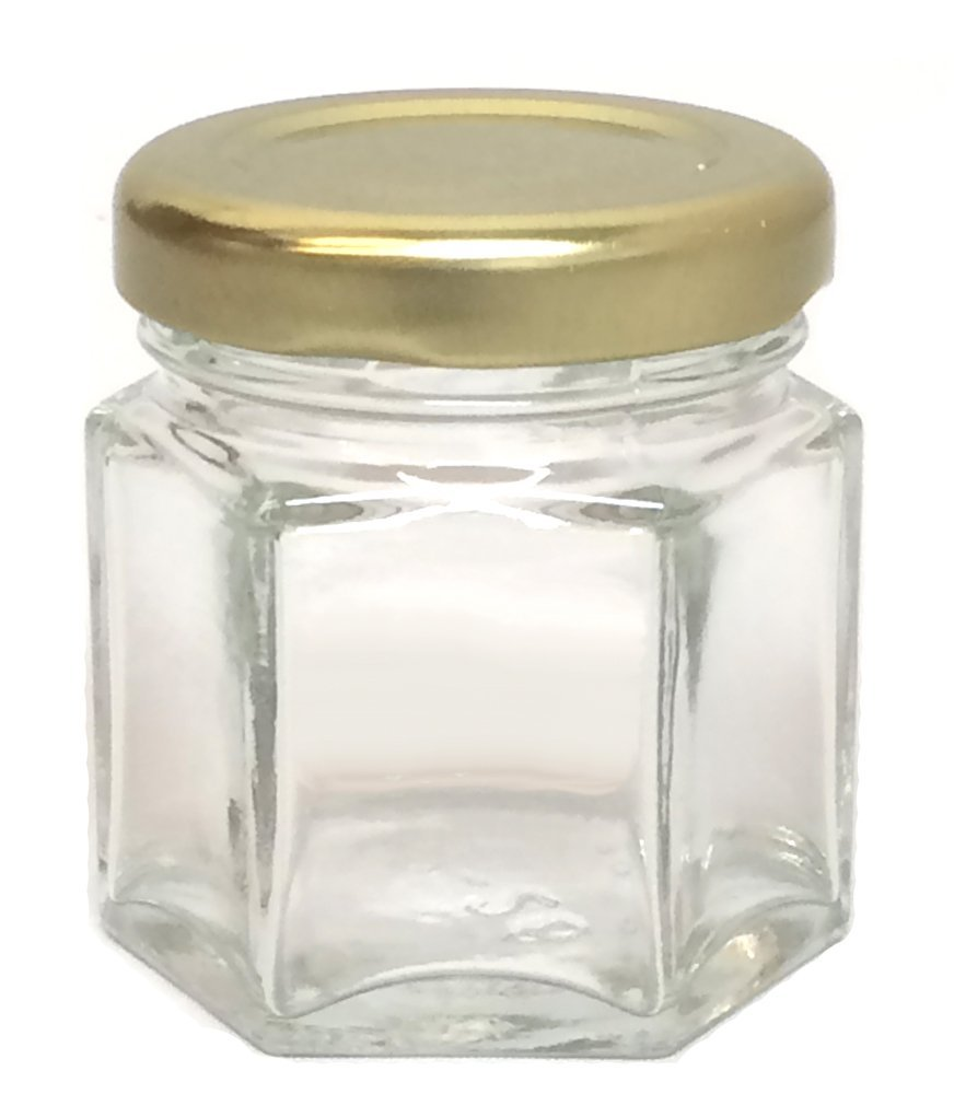 Amazon.com: Hexagon Glass Jars, Mini Hex Jars 1.5 Oz - Case of 24 ...