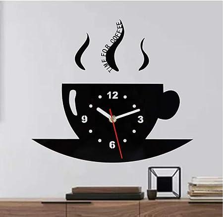Zihan9 Reloj de Pared de Vinilo Cafetera Creativo Cuarzo Grabación Película Anime Elemento Vintage Decoración para el hogar Reloj Decoración: Amazon.es: Hogar