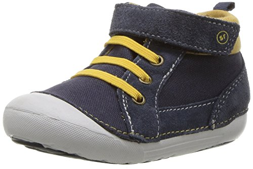 Stride Rite Baby Soft Motion Danny Ankle Boot, Navy, 3 Wide US Infant