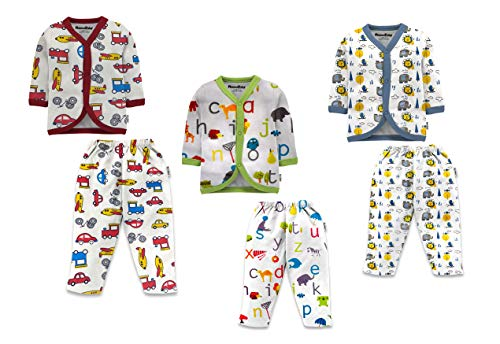New Born Full Sleeves T-Shirt & Lounge Pant Set Pack of 3