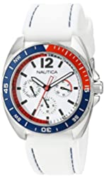Nautica Unisex N09907G Sport Ring Multifunction White Box Set Watch