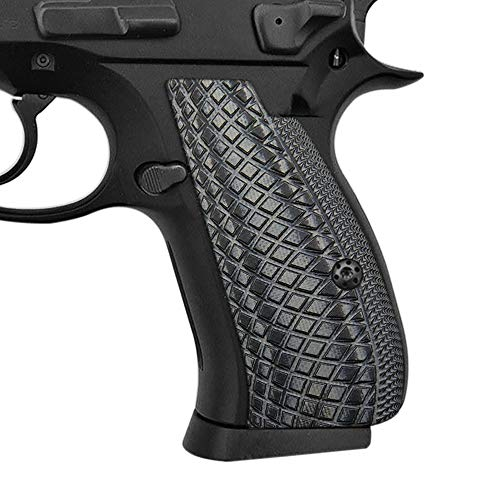Cool Hand G10 Grips for CZ 75/85 Compact, Snake Scale Texture, Grey/Black, Brand