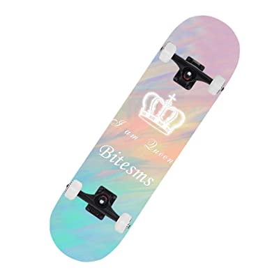 ZYL-YL Scooters Double-Warping Type Brush Street Travel Professional Board Beginner Boys and Girls General Gradient Highway 79 20 10 Skateboard (Color : Pink, Size : 79 20 10CM) Scooter : Sports & Outdoors