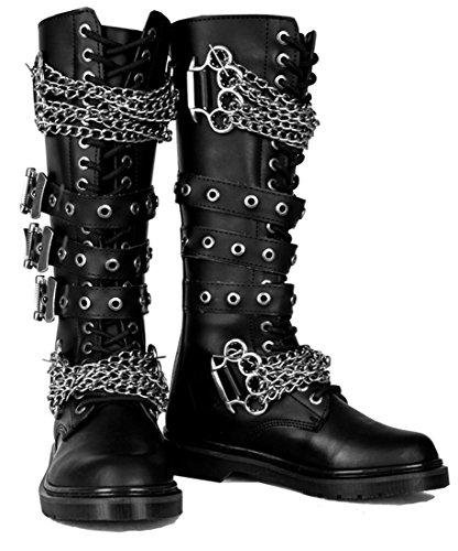 Gothic Punk Shoes - SharpSpirit Gothic Combat Lace Up Military Punk Mens Boots 11