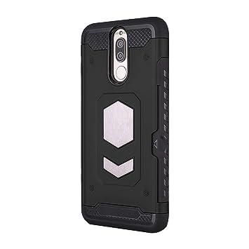 Funda Huawei Mate 10 Lite Carcasa ,TPU Silicona y PC Híbrida Armor Protección la Ranura Tarjeta Escondida Almacena y Imán del Coche Función Caso para ...