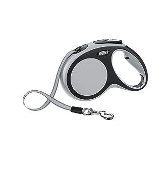 97e12714 Flexi New Comfort Retractable Tape Lead, Medium, 5 m, Grey: Amazon ...