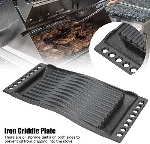 Ustensiles de cuisson, plaque de cuisson pour barbecue, fonte en fonte, gril d'apparence simple pour griller à saisir