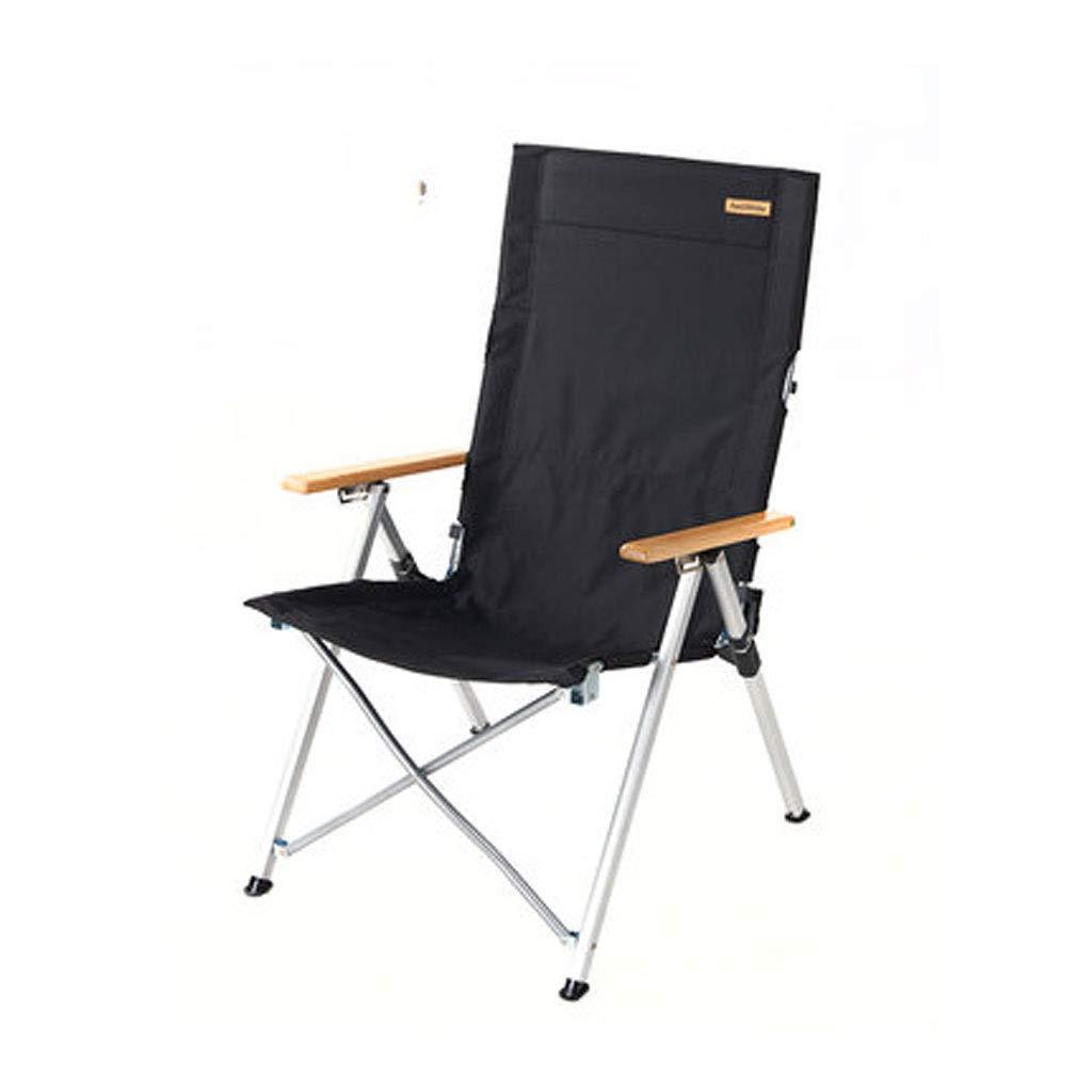 BFQY FH Outdoor Tragbarer Klappstuhl, Aluminiumlegierung Tragbarer Angeln Stuhl Skizze Freizeit Camping Strandstuhl, 96 × 67 × 42 cm