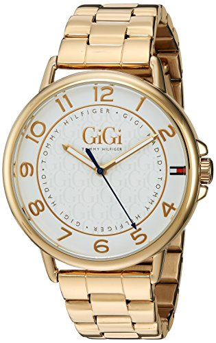 Tommy Hilfiger Women's 'Gigi Hadid' Quartz Tone and Gold-Plated Casual Watch(Model: 1781722)