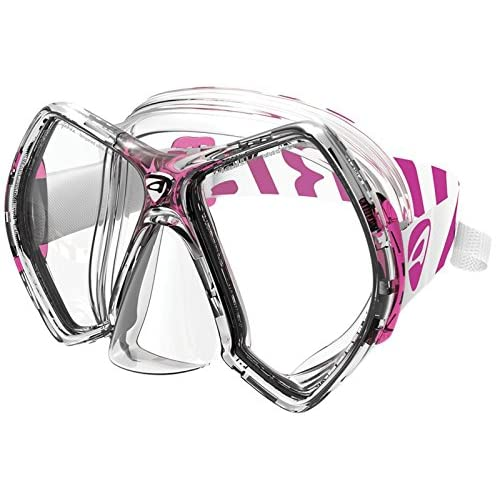 Image of Aeris Cyanea - Clear/Pink Diving Masks