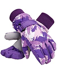 Kids Winter Gloves Waterproof Thinsulate Lining Snow Ski Gloves