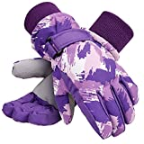 Galexia Zero Kids Winter Gloves Waterproof Thinsulate Lining Snow Ski Gloves L