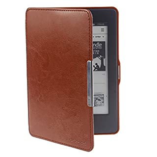 Will not fit All new Paperwhite 10th G ,Rose Red Map The Thinnest Lightest PU Leather Smart Cover Kindle Paperwhite fits all Paperwhite generations prior to 2018 OMOTON Kindle Paperwhite Case Cover