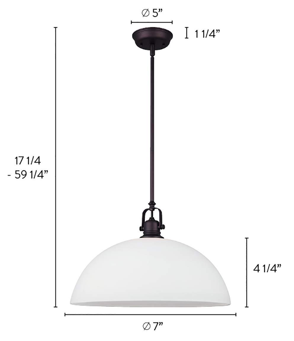 Canarm IPL177B01ORB Rowan 1-Light Mini Pendant