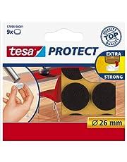Tesa Oppervlaktebeschermers, anti-kras zelfklevend vilt rond 18 mm Dia, wit (16 pads) (oude versie)