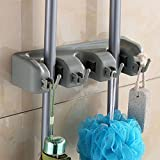 Robust Deer Mop and Broom Holder, Wall Mounted Garden Tool Storage Tool Rack Storage & Organization for Your Home, Closet, Garage and Shed (3P)