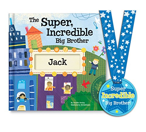 Big Brother Personalized Custom Name Book with Medal - Sibling Gift, Becoming a Big Brother Gift, I'm The Big Brother | I See Me! (3 Book Gift)