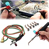 DOMINTY Jewelry Jewelers Micro Mini Gas Little Torch Welding Soldering kit 5 tips In Box