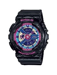 Casio Women's G-Shock BA112-1A Black Rubber Quartz Watch
