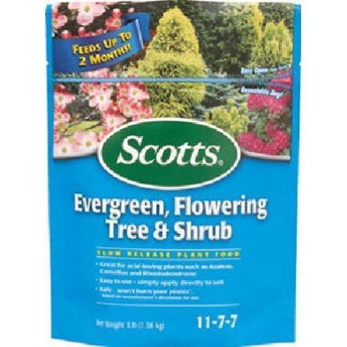 - Scotts Continuous Release Evergreen Flowering Tree and Shrub Fertilizer, 3-Pound (Not Sold in Pinellas County, FL) (2 Pack)