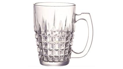 d8c750b5832 Soogo Seatle Glass Beer Mug Set, 380 ml, 2-Pieces, Transparent