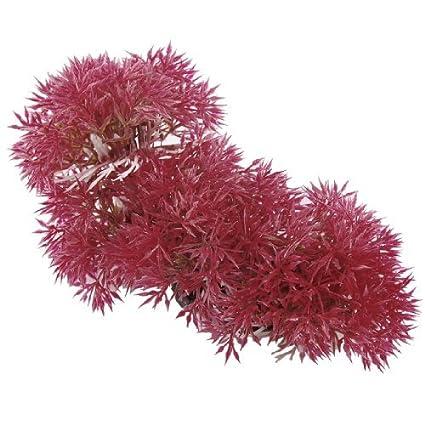 eDealMax pecera de bola de la Flor Artificial de la hierba, DE 2,8