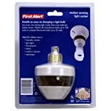 First Alert PIR725 Motion Sensing Motion Activated Light Socket