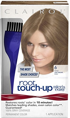Clairol Nice 'n Easy Root Touch-Up, 6 Light Brown, Perman...