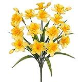 21'' Silk Daffodil Flower Bush -Yellow (pack of 12)