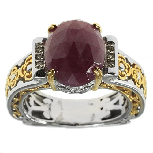 Michael Valitutti Rose Cut Ruby And Diamond (Vogue Ruby Ring)