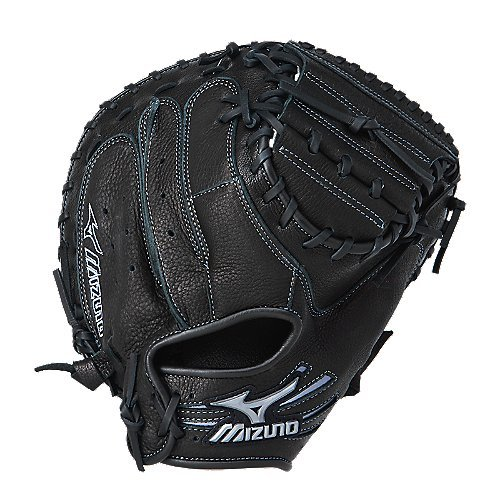 Mizuno GXC95Y Samurai Baseball Catcher's Mitt (Black, 33.00-Inch, Right Handed Throw) - 33