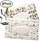 #10: Reusable Wet Wipe Pouch Dispenser for Baby Or Personal Wipes, Eco Friendly Wipe Pouches, Great for Travel (2PCS)