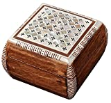 Egyptian Mother of pearl & Paua Shell Inlaid Jewelry trinket decorative Box