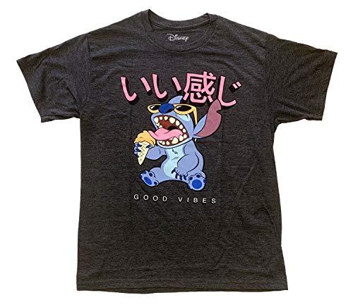 Disney Lilo and Stitch Good Vibes Ice Cream Adult T-Shirt (Large)