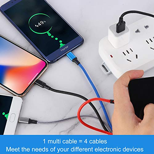 WXDGLL WWE Multi-Charging Cable 3-in-1 Fast Charging Cable Connector and Dual Phone Port Adapter Compatible with Fast Flash Charging of Tablet Phones